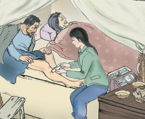 「赤脚医生」李宝珠のイラスト
