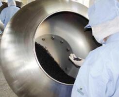 サプリメント(丸剤)を製造する機械