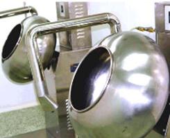 サプリメント(打錠・錠剤)のコーティングを行う機械
