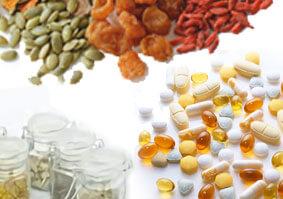 漢方原料素材やハードカプセル・ソフトカプセル・打錠(錠剤)などのサプリメントの画像