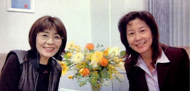里中満智子先生とシンギー会長の藍澤宝珠